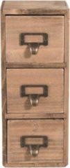 Clayre & Eef - mini ladenkast 11*11*27 cm - bruin - hout - rechthoekig - 6H1565