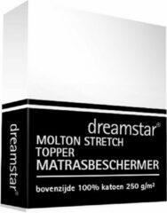 Witte Dreamstar Hoeslaken Molton stretch Topper 80x200-100x220