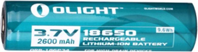 Afbeelding van Olight oplaadbare lithium 18650 3.7V batterij - 2600mAh
