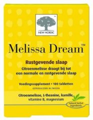 New Nordic Melissa Dream Tabletten 100st