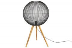 Countryfield Tafellamp Ingemur 43 X 75,5 Cm Staal/hout Zwart/bruin