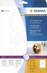 HERMA CD DVD Etiketten 4914 Wit Ø 116 mm 25 Vellen van 2 Etiketten