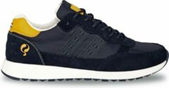 Q1905-Quick Heren Sneaker Voorschoten - Donkerblauw/Geel