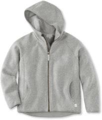 Hessnatur Kinder Fleece Jacke aus Bio-Baumwolle – grau – Größe 158/164
