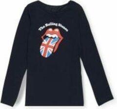 Donkerblauwe Merkloos / Sans marque Rolling Stones shirt maat 110 donker blauw