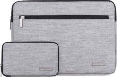 Somstyle Laptophoes 13 Inch – Macbook Pro 13 Inch case 2009-2012 – Macbook Air 2008-2017 Case – Laptop Sleeve + Accessoires Etui – Grijs