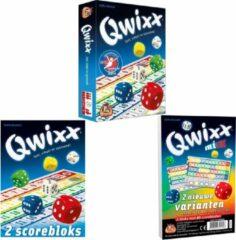 Merkloos / Sans marque Spellenbundel - 3 stuks - Dobbelspel - Qwixx & 2 extra scoreblocks & Qwixx Mixx