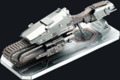 Zilveren Metal Earth bouwpakket Star Wars First Order Treadspeeder