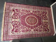 Bordeauxrode Merkloos / Sans marque Vintage tapijt rood