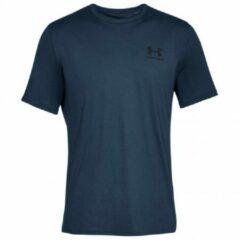 Under Armour - Sportstyle Left Chest S/S - Sportshirt maat XL - Regular, blauw
