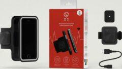 """Shapeheart - Sport Armband met Heart Rate Moniter - gebruik voor maat tot - 6.2"""" (Zwart) (hartritmemonitor)"""