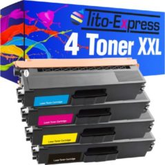 Tito-Express PlatinumSerie PlatinumSerie® 4 Toner XXL compatible voor Brother TN-326 TN-321 Black Cyaan Magenta Yellow HL-L 8250 CDN / HL-L 8350 CDW / HL-L 8350 CDWT / HL-L 8300 Series / MFC-L 8850 CDW /MFC-L 8600 CDW / MFC-L 8650 CDW / DCP-L 8400