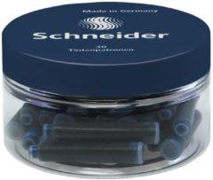 Inktpatronen Schneider donker - blauw container à 30 st