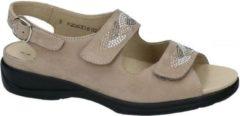Solidus -Dames - taupe - sandalen - maat 36