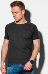 Zwarte Ombre T-shirt heren s1182