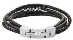Fossil JF03183040 Armband Mens Vintage leder zwart 18-19,5 cm