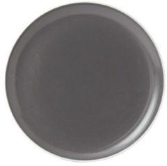 Antraciet-grijze Royal Doulton Gordon Ramsay Bread Street dinerbord - Ø 27 cm - antraciet