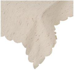 Tischdecke 130 x 160 cm, beige/braun gemustert