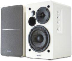 Witte Edifier 2.0 RMS 42W Multimedia luidspreker 2x Stereo RCA in RMS 2x 21W Laag/Midden: 4i 6 Hoog: 0.5i 4. Magn. Afgesch.