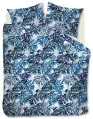 Blauwe Beddinghouse Hawaii Dekbedovertrek - 100% Gebreide Katoen - 2-persoons (200x200/220 Cm + 2 Slopen) - Blue