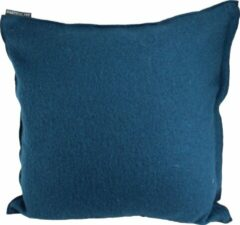 Blauwe Particolare Kussen Cooked wool Petrol blue 033