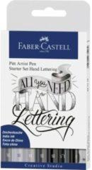 Zwarte Faber Castell Tekenstift Faber-Castell Pitt Artist Pen handlettering 8-delig basisetui