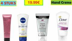 Box Set van (4 stuks )Hand & Nail Cream (Neutrogena, Nivea, Dove, Possibility)