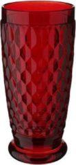 Rode Villeroy & Boch Boston Boston coloured Longdrink-/bierbeker Red - 16 cm - 0,40 l