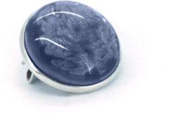 Qoss Broche Jeansblauwe Steen - 20mm