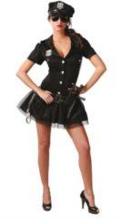 Zwarte Guirca Politie agente - Verkleedkleding - Maat M