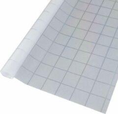 Simple Fix Raamfolie - 45cm x 500cm - Decoratiefolie - Plakfolie - Zelfklevend - Statisch - Privacy Verhogend - Anti Inkijk - Geruit Patroon