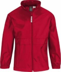 Windjas/regenjas voor jongens rood maat 152/164