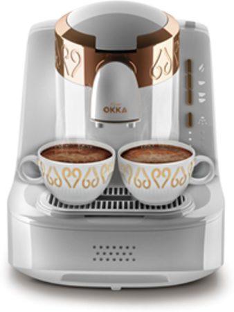 Afbeelding van Arzum OKKA Turkish Coffee Machine| OK001WHITE| White & Gold |Turks Koffizetapparat - Wit & Goud - Full Automatic | 2 kopjes