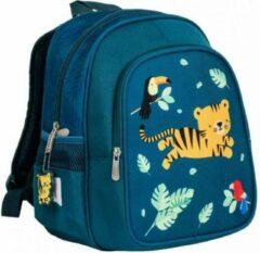 Groene Geisoleerde kleuter rugzak tijger - A Little Lovely Company