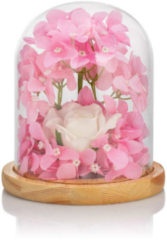Cottage Dreams LED-Cloche mit Kunstblumen