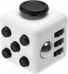 Fidget Cube Friemelkubus - Anti Stress Cube - Speelgoed Tegen Stress - Meer Focus & Concentratie - Fidget - Wit Zwart grijs