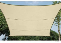Perel Velleman waterdoorlatend zonnezeil - vierkant - 5 x 5 m - kleur: champagne gss4500pe