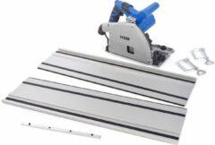 Lemato 160 mm Professionele 1200 Watt Invalzaag, Linaalzaag met 2 x 700 mm Liniaal