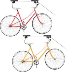 Relaxdays 2er Set Fahrradlift Fahrradaufzug Fahrradaufbewahrung 2 Fahrräder Deckenmontage
