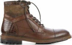 Bruine Giuseppe Maurizio Mannen Leren Boots - G3014 - 41