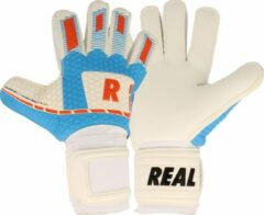 Real White Force Keepershandschoenen - Wit / Lichtblauw / Rood | Maat: