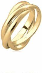 Gouden Elli Dames Ringen Dames Trio Basic Wikkelring in 925 Sterling Zilver verguld