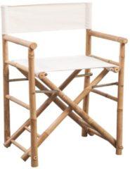 Bruine VidaXL Regisseursstoelen 2 st inklapbaar bamboe en canvas