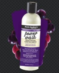 Aunt Jackies AUNT JACKIE'S GRAPESEED STYLE & SHINE RECIPES POWER WASH INTENSE MOISTURE CLARIFYING SHAMPOO 355ML