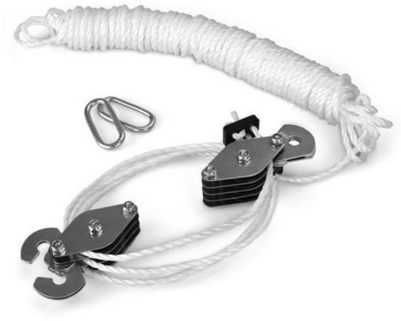 Afbeelding van Witte ES Handkatrol - 180kg - Hefhoogte 3m - 20m Touw