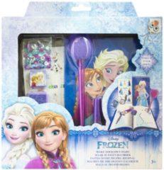 Blauwe Disney Frozen maak je eigen dagboek set voor meisjes