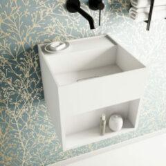 Ideavit SolidBliss Wastafel 30x30x28cm 0 kraangaten Solid surface mat wit Solidbliss-30SH