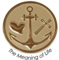 Quoins QMOZ-07-M-G Munt The Meaning of Life goudkleurig