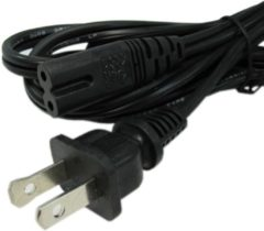 Qatrixx US 2-Prong Laptop Computer Adapter Power Cord cable