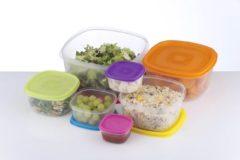 Paarse Bewaardoos Set Van 7 Stuks - diverse maten - veilig voor vriezer, magnetron en vaatwasser